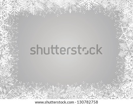 Background With Snowflakes. Raster Version - stock photo