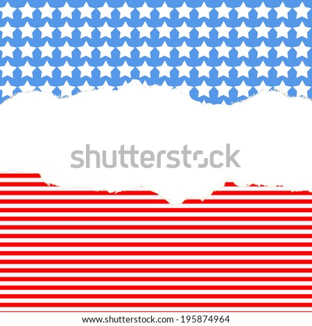 background with stars and stripes for July 4th with space for text - stock photo