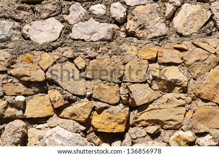 Background with stone wall texture
