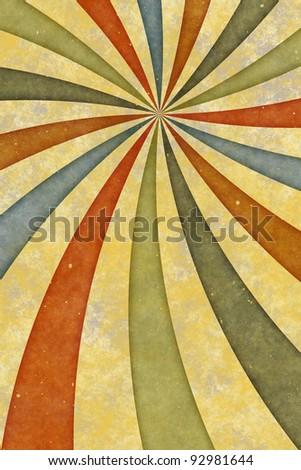 Background with swirling colorful stripes - stock photo