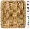 Background with Texture of Woven Wicker / Square background with woven wicker on a white background - stock photo