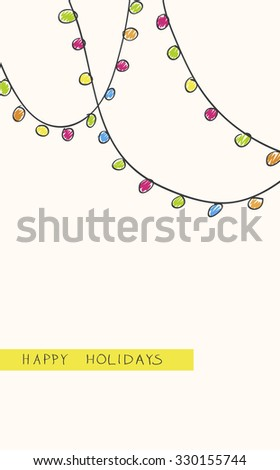 background with the image of the Christmas lights