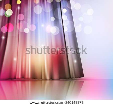 background with theatre  curtain - stock photo