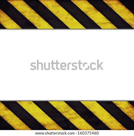 Background with warning stripes and text space