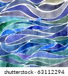 Background with water color waves - stock photo
