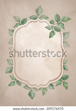 Background with watercolor flowers. Perfect for invitations or announcements