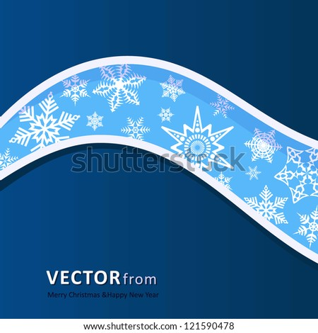 Background with wave from pattern to Christmas and New Year