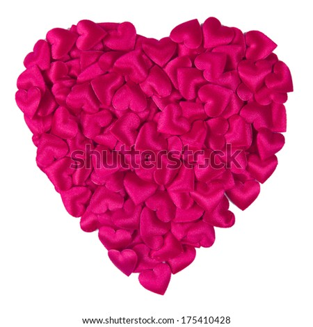 Background with white paper heart and pink hearts - stock photo