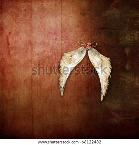 Background with wings - stock photo