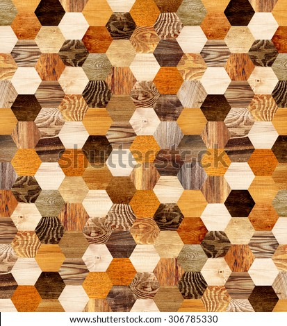 Background with wooden patterns of different colors - stock photo