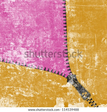 background with zipper - stock photo