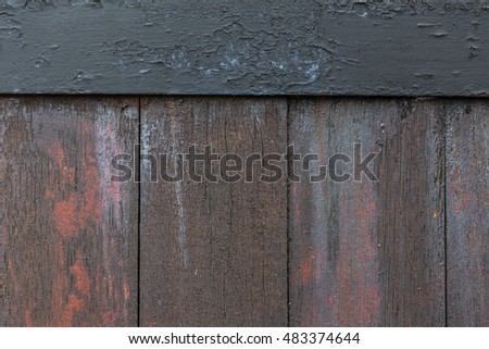 background, wood and texture concept - close up of old wooden fence