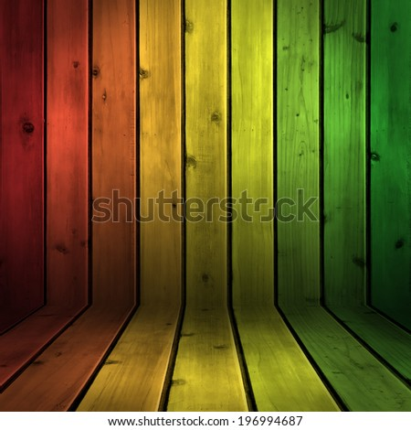 Background wood board texture with reggae color