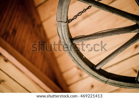 background - wooden roof