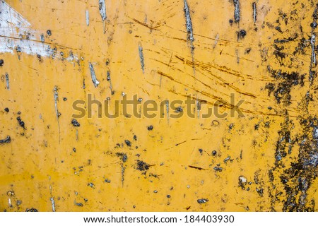 Background yellow metal - stock photo