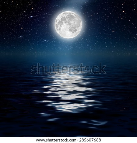 backgrounds night sky with stars and moon and clouds. wood. Elements of this image furnished by NASA - stock photo