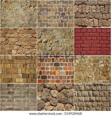 Backgrounds of a stone wall - stock photo