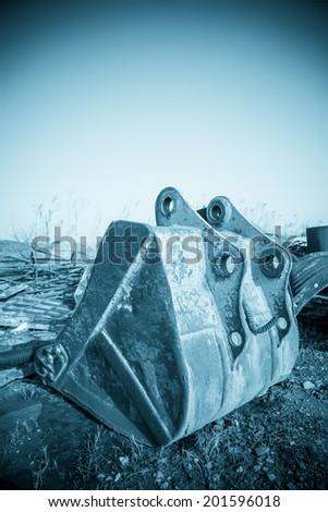 backhoe - stock photo