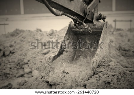 Backhoe Digging And are constructed - stock photo