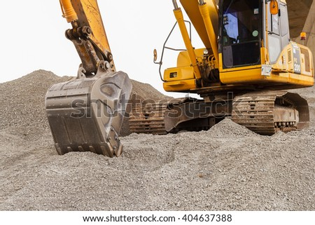 Backhoe on a Construction Site in thailand.