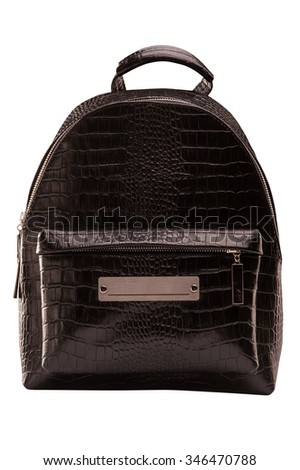 backpack, bag, backpack, leather backpack, leather bag, brown bag, isolated on a white background with a clipping mask