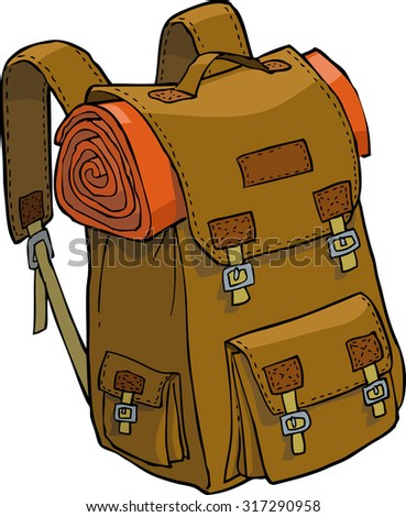 Backpack on a white background raster version - stock photo