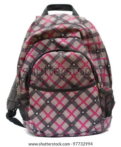 Backpack on Isolated White Background - stock photo