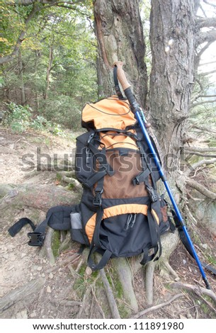 Backpacking the Appalachian Trail in Pennsylvania - stock photo
