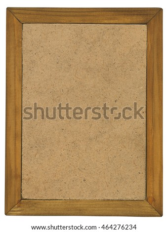 Backside photographic frame