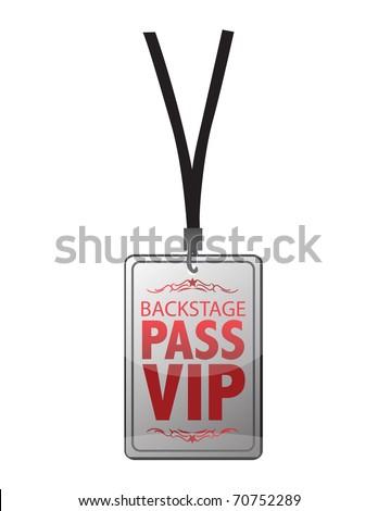 Backstage pass vip - stock photo
