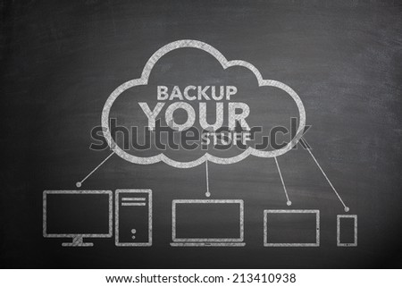 Backup your stuff concept background