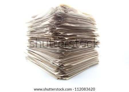 backward work accumulated to realize - stock photo