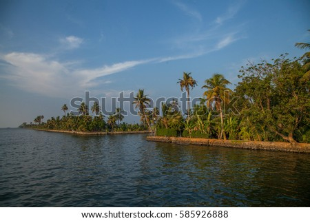 Backwaters landscape of Alleppey, Kerala