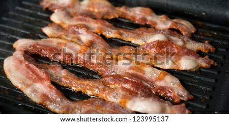 Bacon Cooked on Griddle
