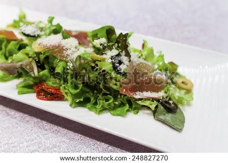 bacon salad - stock photo