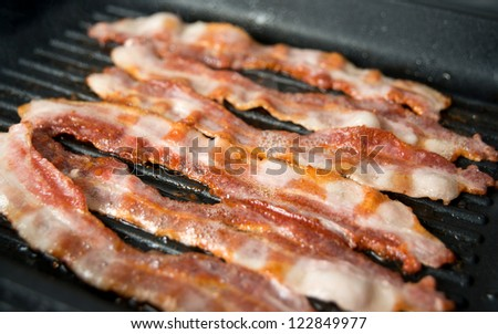 Bacon Sizzling on Skillet