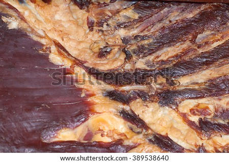 Bacon taken from above perspective - stock photo