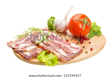 Bacon with vegetables