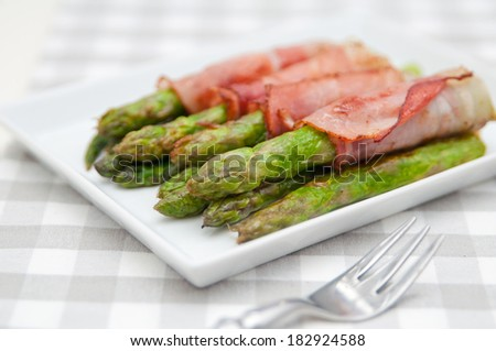 Bacon Wrapped Asparagus  - stock photo