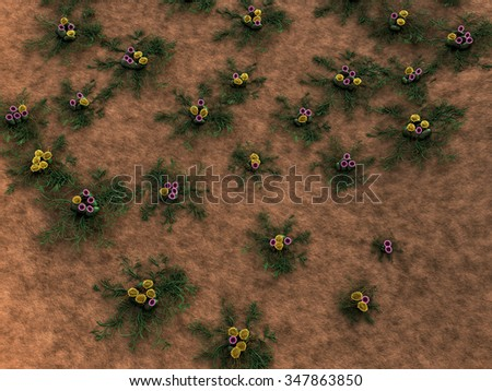 bacteria and fungus on the leather surface, fungus growing, growth of the fungus, viruses and bacteria, mycelium under microscope, group of fungus, colony of fungus - stock photo