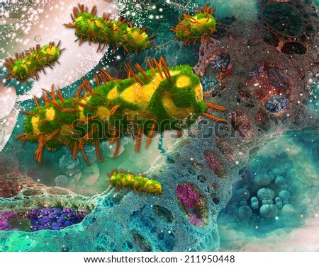 bacteria infection - stock photo