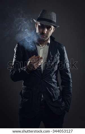 Bad boy with cigarette