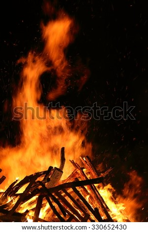 Bad environment pollution. Fire for background