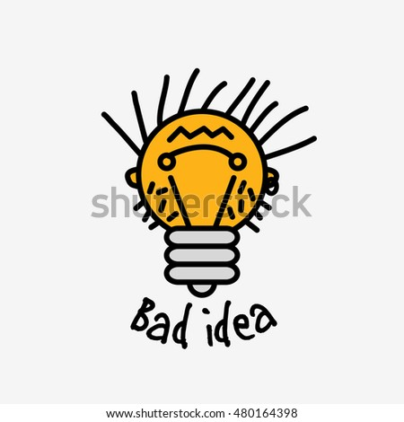 light bulb vector icon stock vector 330217697 shutterstock. Black Bedroom Furniture Sets. Home Design Ideas