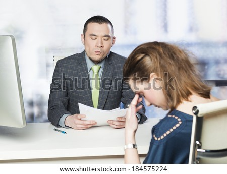 Bad job interview - concept  - stock photo