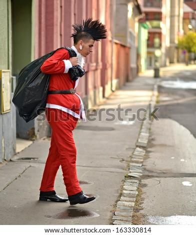 Bad Santa Claus - stock photo