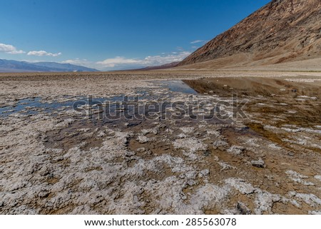 Bad water basin at the Death Valley, CA, USA