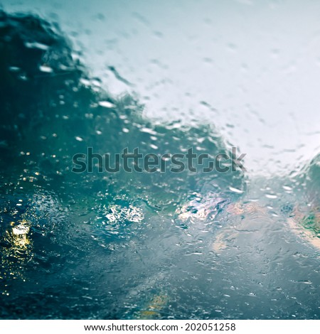 Bad weather driving - stock photo