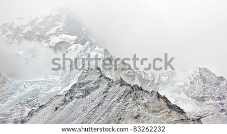 Bad weather - Nepal - stock photo