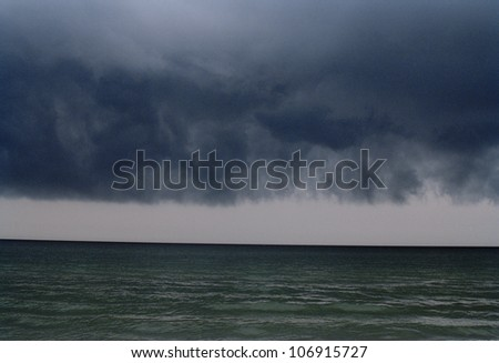 Bad weather over the ocean, Poland.